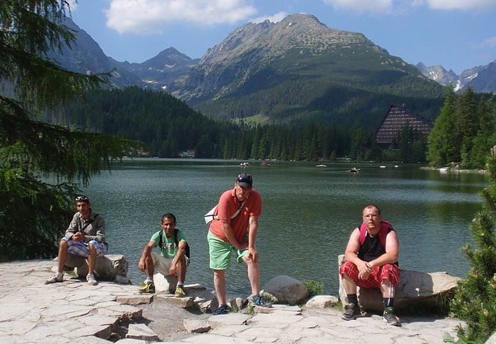Chlapci na výlete v Tatrách