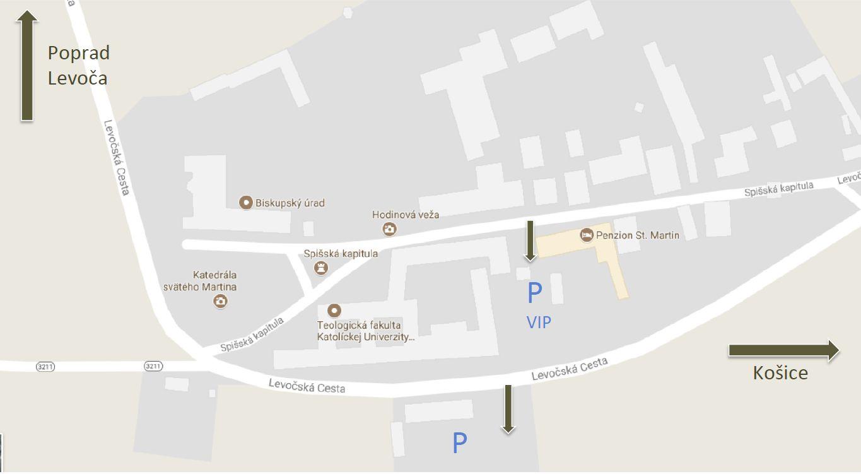 mapa pokyny hostia